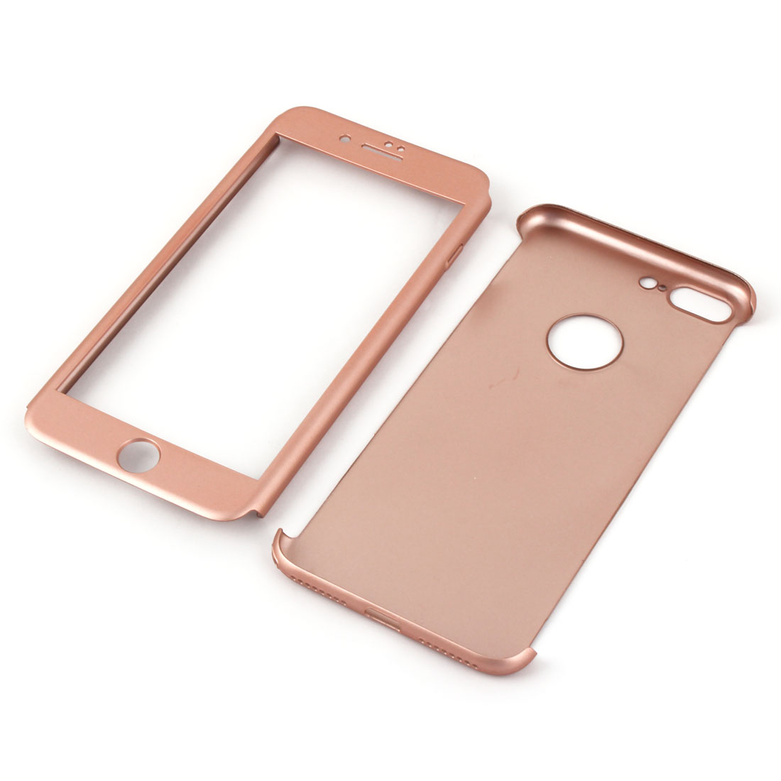 Cell Phone Dirtproof Hard Full Protection Case Rose Gold Tone for iPhone 7 Plus - image 4 of 7