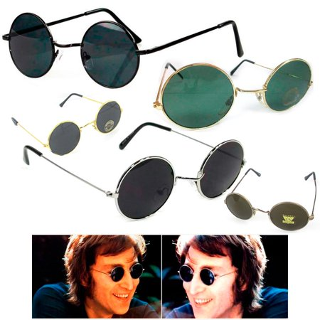 1 John Lennon Sunglasses Round Hippies Shades Retro Vintage 60s 70s Small Uv100 - 60s 70s Outfits