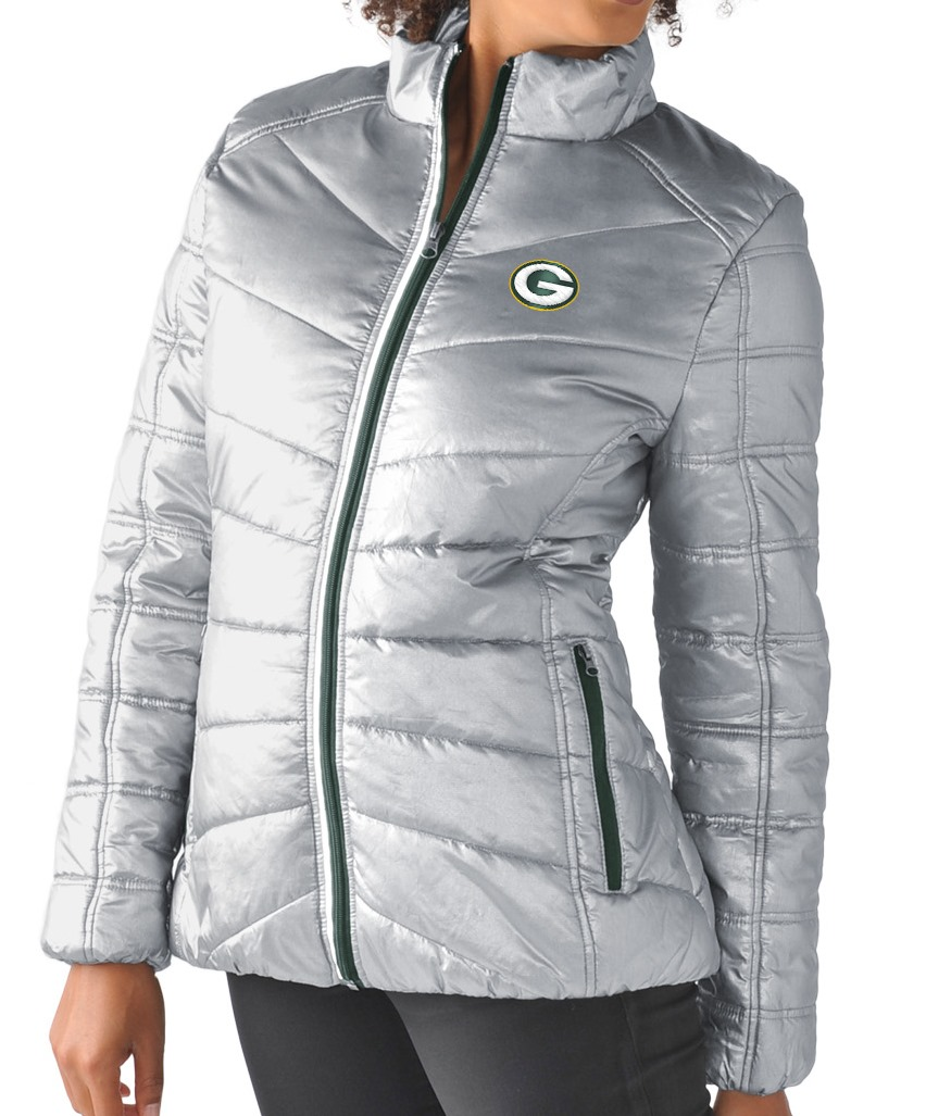 "Green Bay Packers Women's NFL G-III ""Rise Up"" Full Zip Quilted Jacket by G-III Sports"