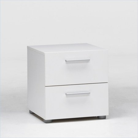 Spices Bedroom Collection - Tvilum Loft Collection 2-Drawer Nightstand, White