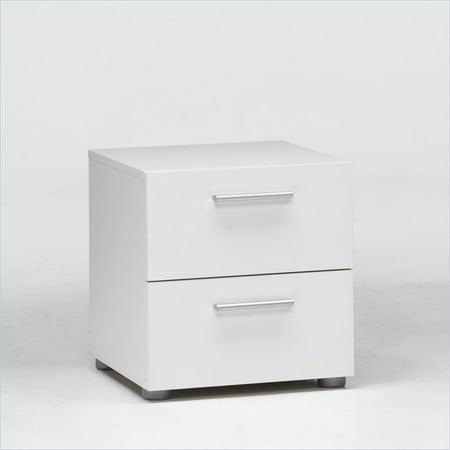 Tvilum Loft Collection 2-Drawer Nightstand, White](One Night Stand Costume)