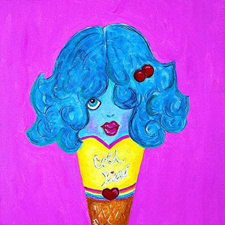 Cold Piece by Timmery Pop Art 24x24 Giclee Print Poster Ice Cream College Decor POD