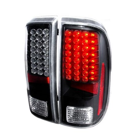 Spec-D Tuning LT-F25008JMLED-KS LED Tail Lights for 08 to 11 Ford F250, Black - 10 x 12 x 18 in. - image 1 of 1