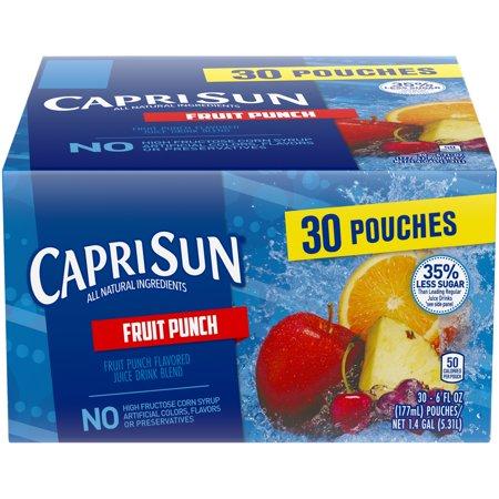 Capri-Sun Fruit Punch Juice Drink 30-6 fl. oz. Pouches - Halloween Capri Suns