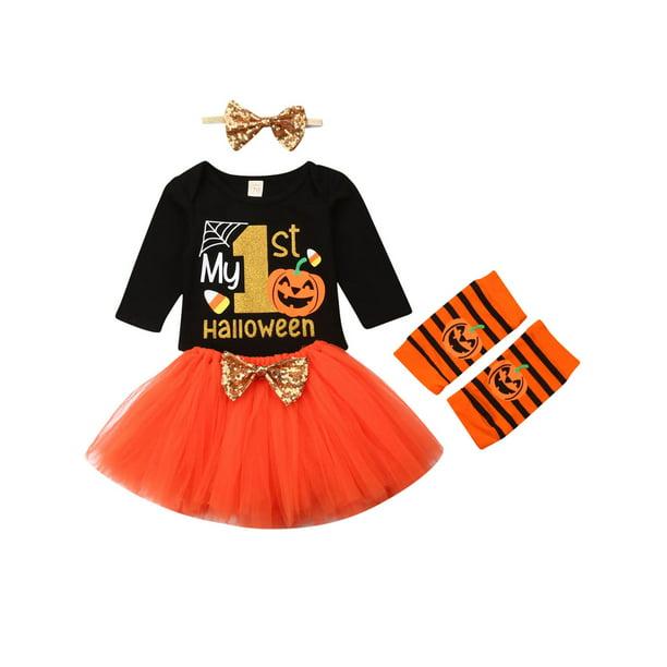 La Hiebla La Hiebla Halloween Outfit Clothes Set For Baby Girls Walmart Com Walmart Com