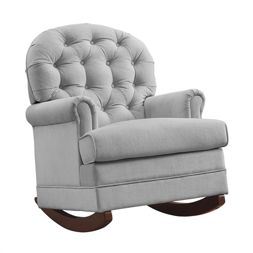 Baby Relax Brielle Button Tufted Rocker Taupe