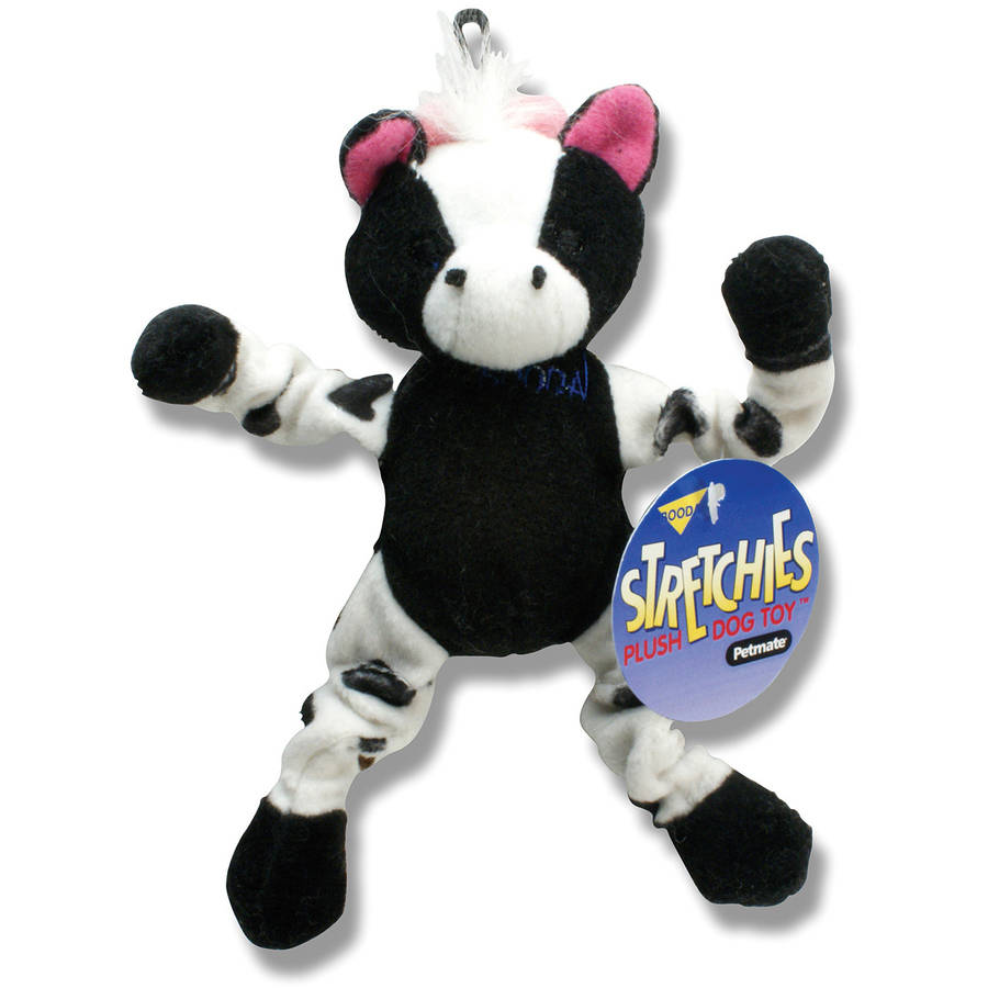 Petmate Doskocil Co. Inc. Cow Stretchies Dog Toy, Small