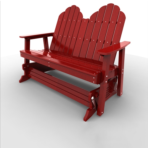 Double Glider by Malibu Outdoor - Yarmouth, Red
