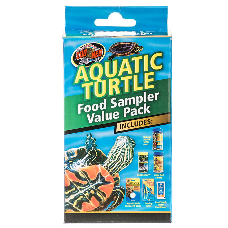 Click here to buy Zoo Med Aquatic Turtle Food Sample Value Pack Sample Value Pack by ZOO MED LABS INC.