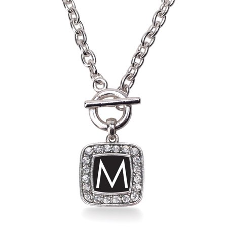 My Initials - Letter M Classic Charm Toggle Necklace
