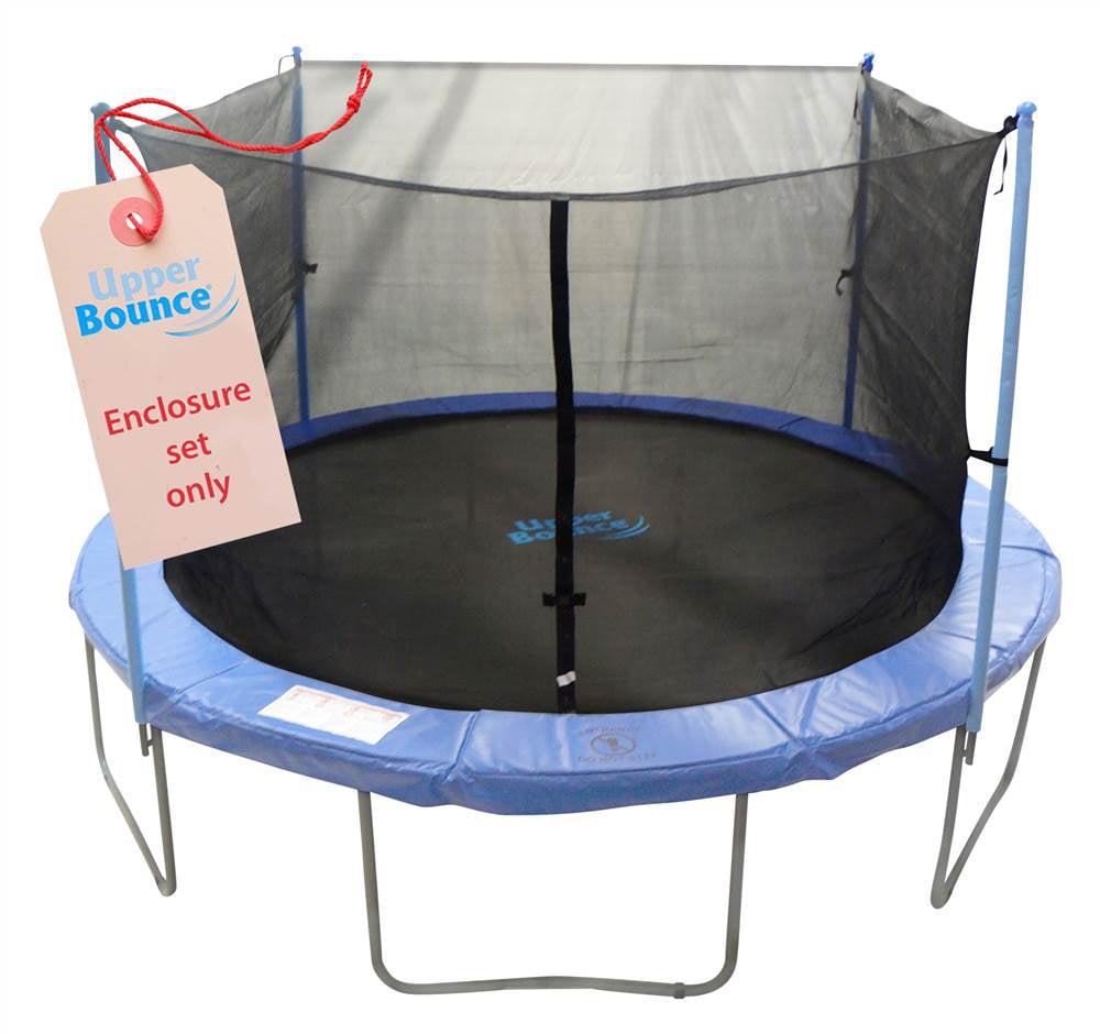 Trampoline Enclosure Set To Fit 12 Ft Round Frames For 2 Or 4 W Shaped Legs Set Includes Net Poles Hardware Only Walmart Com Walmart Com