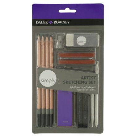 Daler-Rowney Simply Artist's Sketching Set, 13 Piece ...