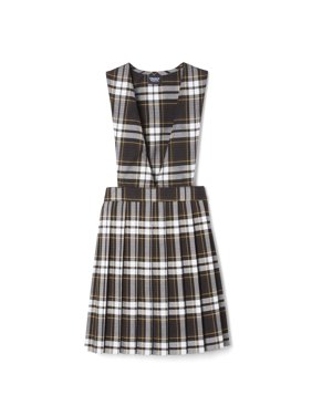 French Toast Girls Plus School Uniform Plaid V-Neck Pleated Jumper (Plus)