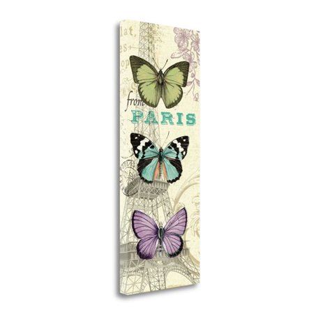 Tangletown Fine Art Air Mail Butterfly Panel I Graphic Art Print On Wrapped Canvas