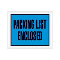 "Box Packaging ""Packing List Enclosed"" Envelope, 2 Mil Poly - 1,000/Case"