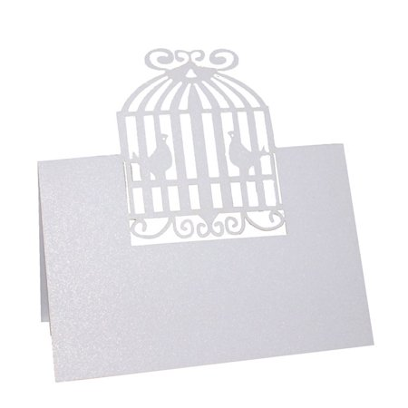 50pcs Love Cage Place Name Card Invitation Card Table Name Card Wedding Party Decoration Favor - Wedding Table Favors