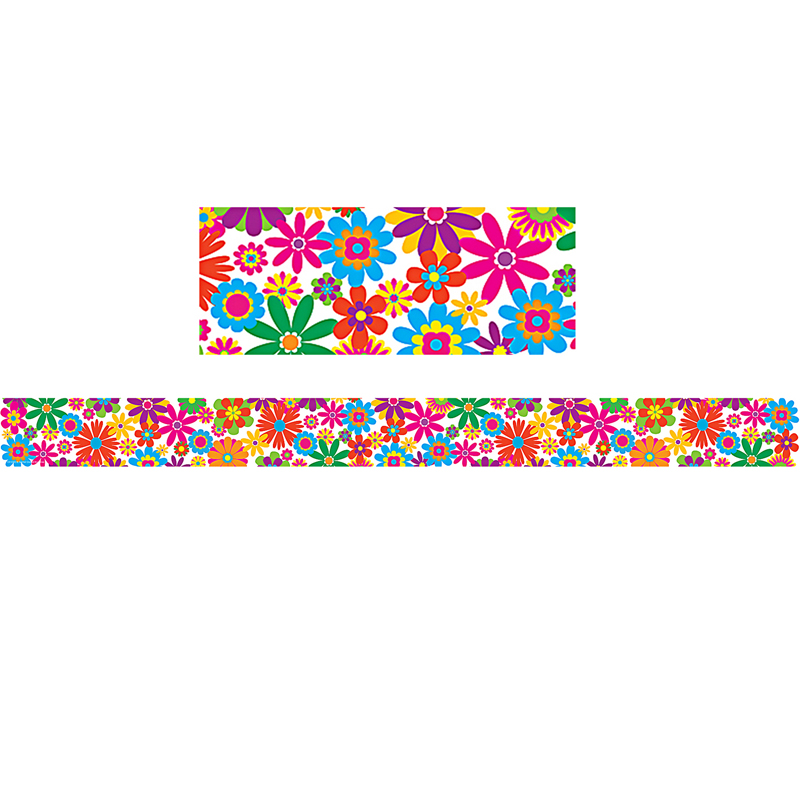 FUN FLOWERS STRAIGHT BORDER TRIM