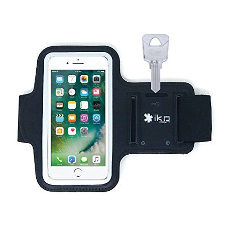 online retailer 1a83e d7ef3 Iphone 6 Plus 6S Plus Armband - Best for Running, Sports and Workout ,  Sweatproof, Touch Sensitive, Key Holder - Black ( iPhone 6 PLUS / 6S PLUS  ...
