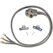 Certified Appliance Accessories 90-1010 3-Wire Open-Eyelet 30-Amp Dryer Cord, 4ft