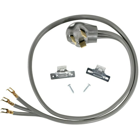Certified Appliance Accessories 90-1010 3-Wire Open-Eyelet 30-Amp Dryer Cord,