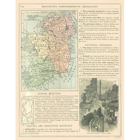 Map Of Ireland To New York.International Map Ireland Monteith 1882 23 X 29 59