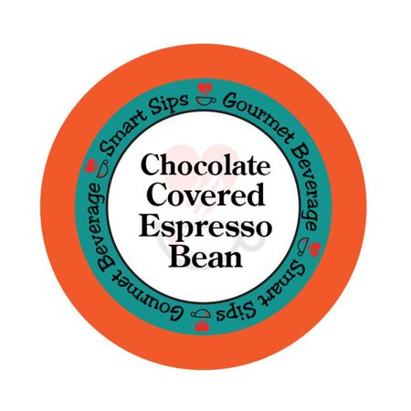 Smart Sips Coffee Chocolate Covered Espresso Bean Flavored Single Serve Coffee Pods, 48 Count, Compatible With All Keurig K-cup (Jura A1 Bean To Cup Coffee Machine)