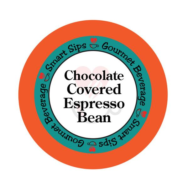 Chocolate Covered Espresso Bean Flavored Coffee, 24 Count, Single Serve Cups Compatible With All Keurig K-cup Brewers