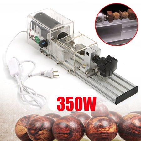 350W Precision Mini Wood Lathe Beads Machine DIY Woodworking Lathe Bench Drill Grinding Cutting Rotary