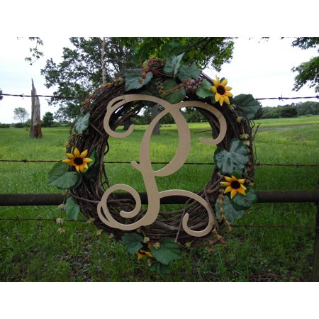 Wooden Letter Vine (P) Unfinished Wood Craft Letter, Paintable Wall Decor (Happy Halloween Letters Printable)