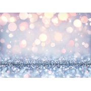 HelloDecor Polyster Photography Backdrop Newborn 7x5ft Glitter Photo Background Christmas for Kids Silver Dot Backdrop for Holiday