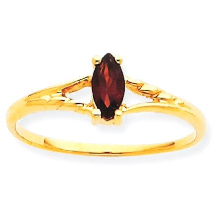 (ICE CARATS 10kt Yellow Gold Red Garnet Birthstone Band Ring Size 7.00 Stone January Marquise Fine Jewelry Ideal Gifts For Women Gift Set From Heart)