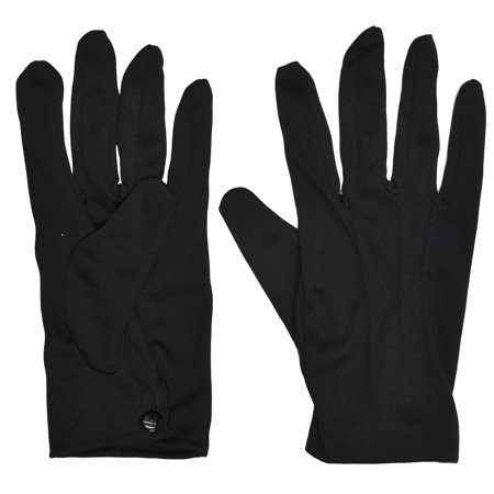 Theatrical Adult Halloween Gloves With Snap - Biker Gloves Halloween