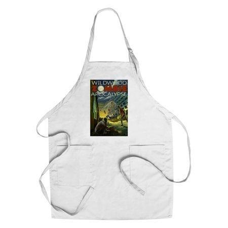 Wildwood, New Jersey - Zombie Apocalypse - Lantern Press Poster (Cotton/Polyester Chef's