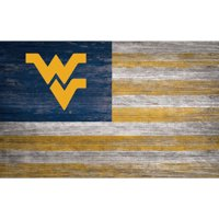 West Virginia Mountaineers 11'' x 19'' Distressed Flag Sign