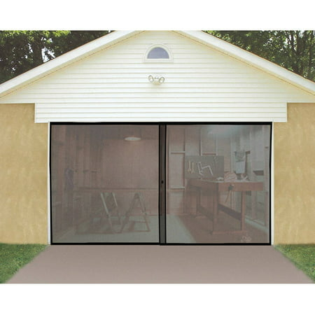 Rollup Garage Door Screen (Ideaworks Single Garage Door Screen, Black, JB4868 )