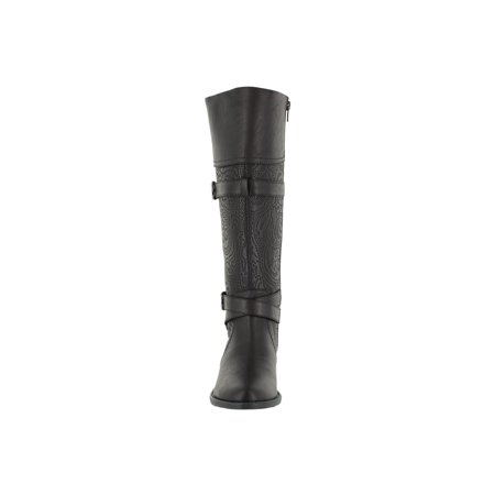Alpinestars Smx Plus Street Boots (easy street  women's kelsa plus tall wide calf boot (black/embossed))