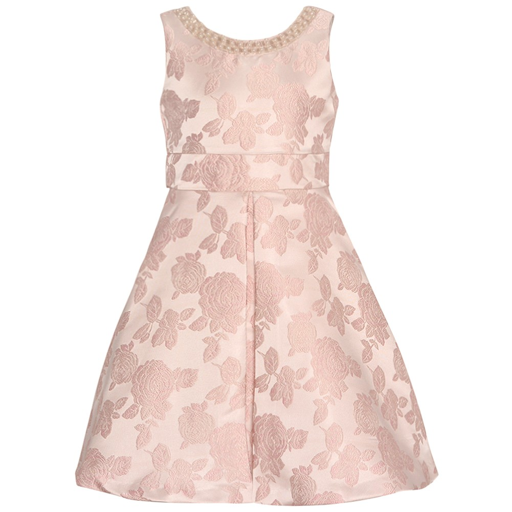 Rare Editions Girls Blush Rose Embossed Cut-Out Christmas...