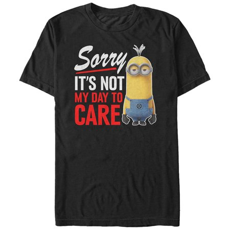 Despicable Me Men's Minion Not Day to Care T-Shirt - One In A Minion Shirt