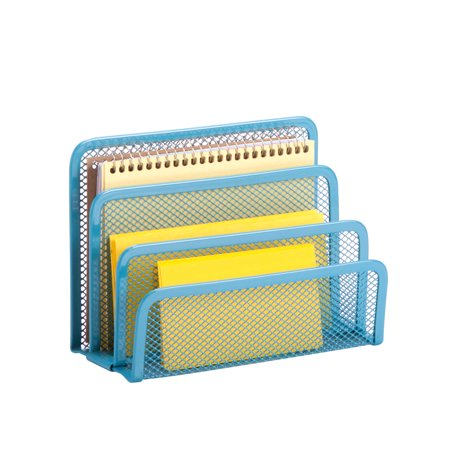 Honey Can Do Mesh Letter Holder with 4 Compartments, Multicolor