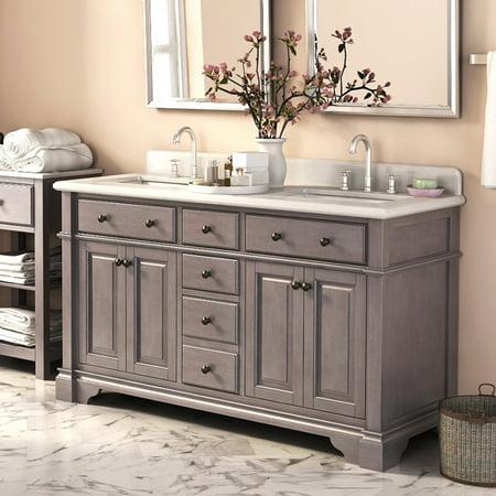Lanza Casanova Wf6956 60 60 In Double Bathroom Vanity Set