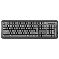 iMicro 104 Key Standard Keyboard USB Wired Durable Ergonomic - Black - KB-US9821