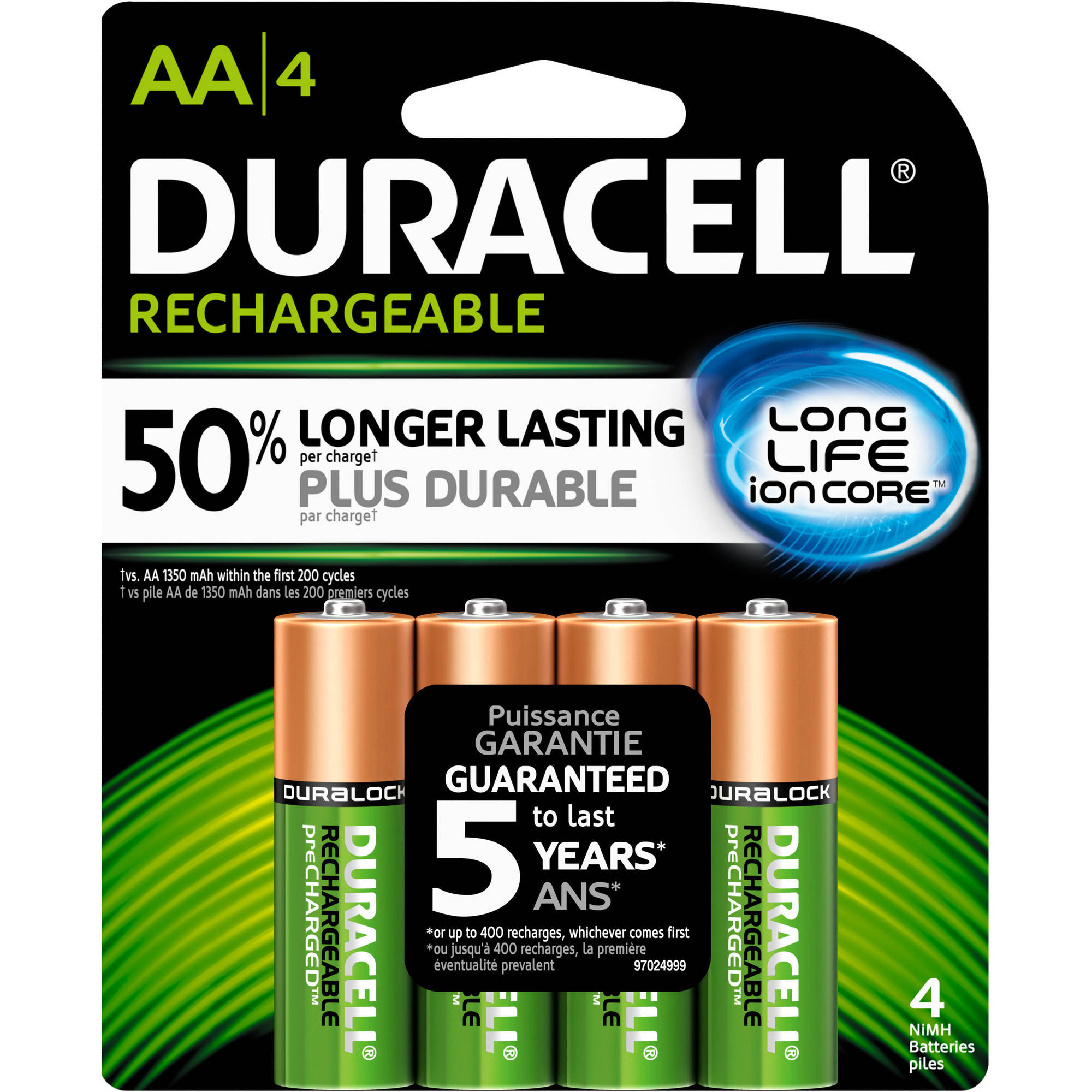 Duracell Rechargeable AA Pre-Charged Household Batteries