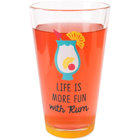 Halloween Rum Cocktail Recipes (Pavilion - Life is More Fun with Rum - Pineapple Pina Colada Summer Cocktail Themed 16 oz Pint Glass)