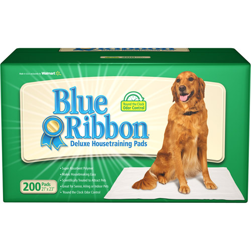 Blue Ribbon Deluxe Pet House Training Pads, 200-Count