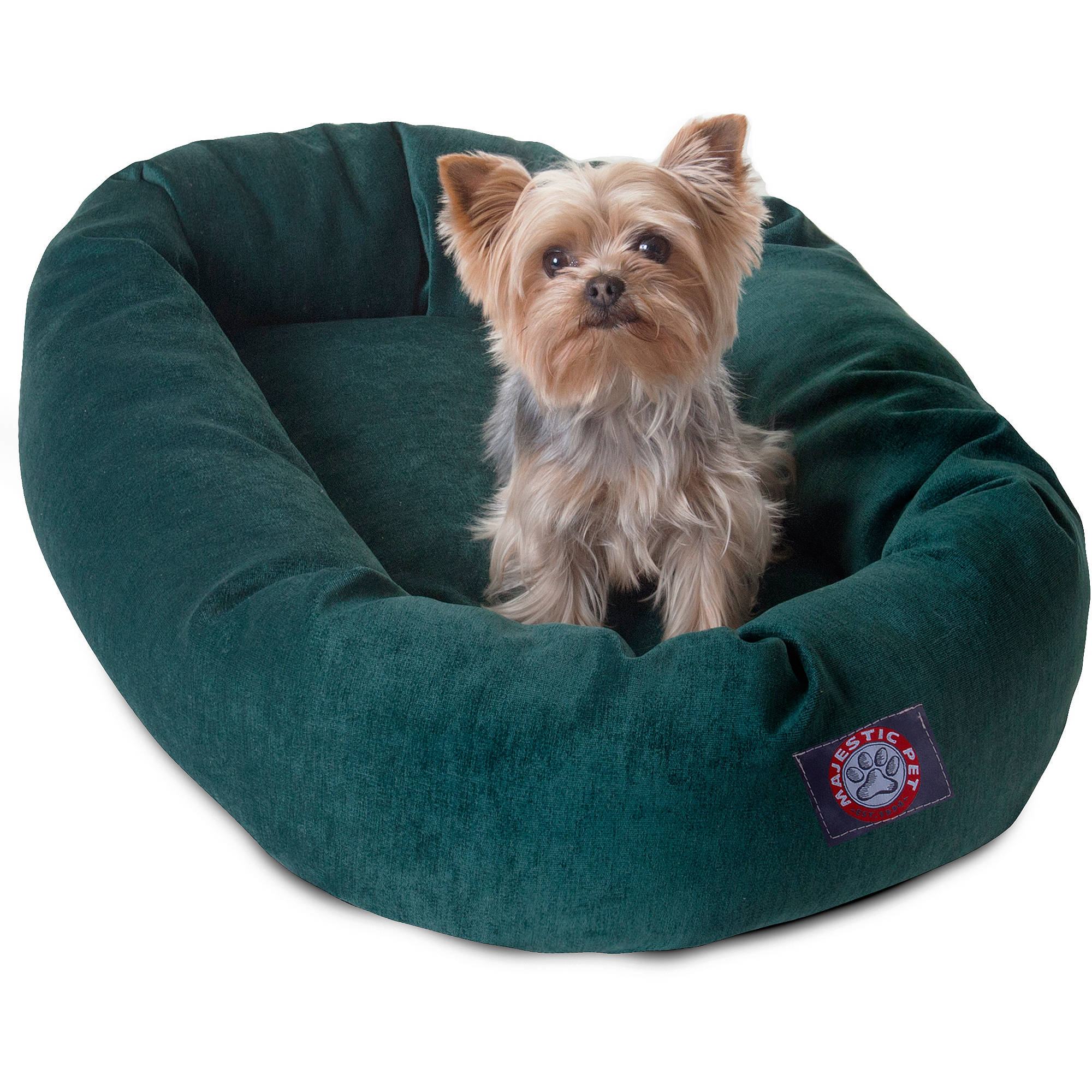 "Majestic Pet Products 24"" Suede Bagel Dog Bed"