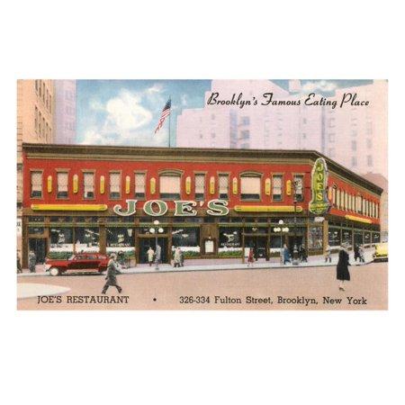 Joe's Restaurant, Brooklyn, New York City Print Wall (No 1 Chinese Restaurant Washington Ave Brooklyn Ny)