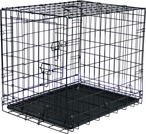 Folding Steel Pet Travel Kennel and Training Cage
