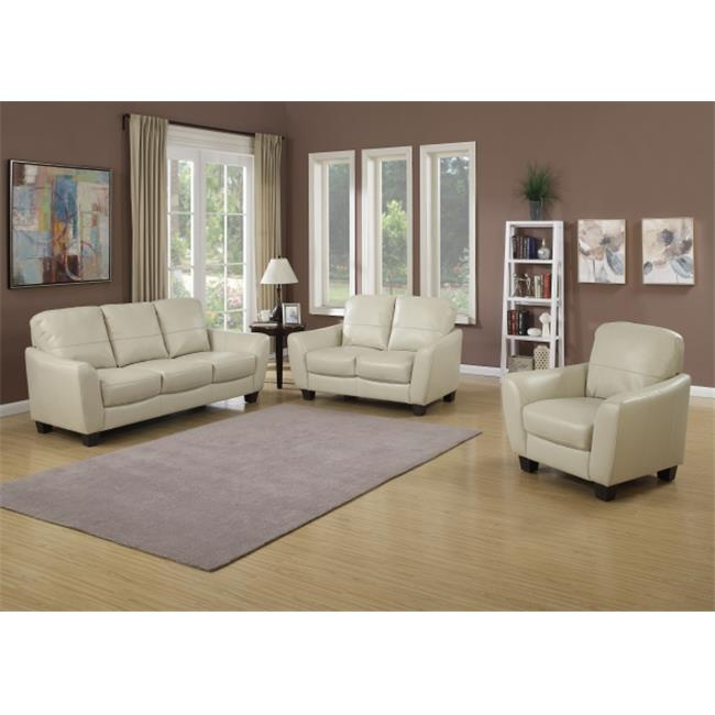 AC Pacific SAWYER-3PC-SET Sawyer Contemporary Sofa, Loveseat & Chair, 3 Piece Stationary Set by AC Pacific