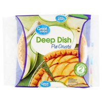 "Great Value Deep Dish 9"" Pie Crusts, 16 oz, 2 Count"