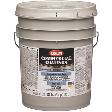 Krylon Interior Latex Paint Flat 5 Gallon Linen White
